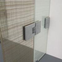 玻璃夹丝装饰网,办公室玻璃门装饰网效果-浩通金属丝网