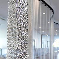 酒店幕墙环形装饰网帘