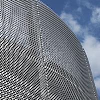 铝板冲孔装饰网应用案例-浩通金属丝网