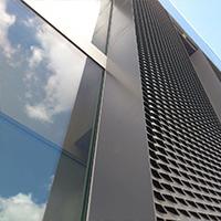 写字楼幕墙装饰网-幕墙铝板网加工定制-浩通金属丝网
