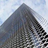 办公楼幕墙装饰网-幕墙铝板网加工定制-浩通金属丝网