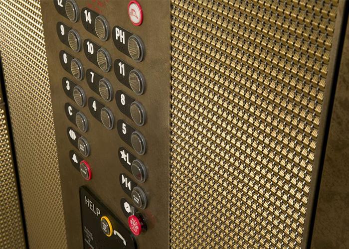 电梯间金属编制幕墙