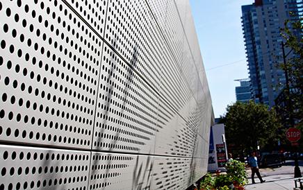 铝板冲孔装饰网效果展示