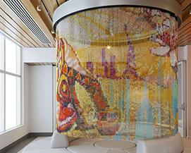 不锈钢编织垂帘,酒店大厅装饰网,浩通金属丝网