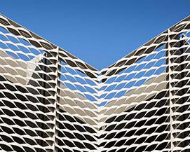 铝网铝板网幕墙装饰菱形,浩通金属丝网