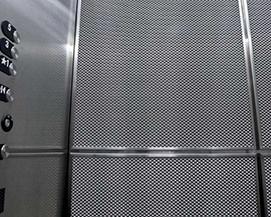 购物中心电梯轿厢装饰网,浩通金属丝网